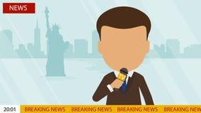 Live news presenter. Royalty Free Stock Photo