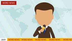 Live news presenter. Stock Photos