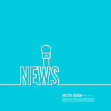 Live news template Stock Images