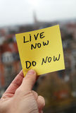 Live Now Do Now Royalty Free Stock Image