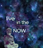 Live in the NOW word cloud royalty free stock photos