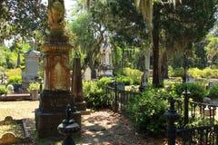 Live Oak Trees en un cementerio de Georgia Imágenes de archivo libres de regalías