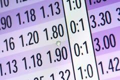 Live odds on display Stock Photos