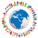 Live in peace conceptual illustration with Earth G Royalty Free Stock Photo