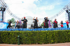 Live performances in Epcot. Royalty Free Stock Photo