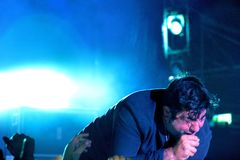 Chino Moreno on stage @  Northside Rock Park Meeting Fest 2017 Royalty Free Stock Images