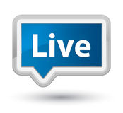 Live prime blue banner button Stock Photography