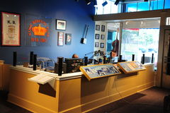 Live Radio Broadcast at the Delta Cultural Visitors Center, Helena Arkansas. Stock Photo