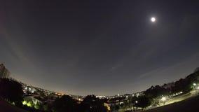 Live Recording 4 keer verzendt een beeld van Internationaal Ruimtestation bij 4:23 AM in Tokyo stock video