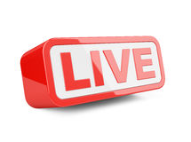 Live - red 3d sign. Royalty Free Stock Image