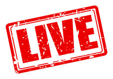 Live red stamp text Royalty Free Stock Images