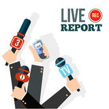 Live report concept Royalty Free Stock Images