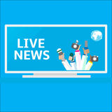 Live report concept, Stock Photos