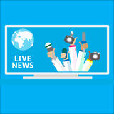 Live report concept, Royalty Free Stock Photo