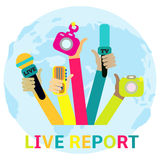 Live report concept, Stock Photos