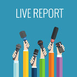 Live report concept Stock Image