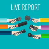 Live report Stock Images