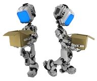 Live Screen Robot, Box Carry royalty free illustration