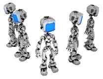 Live Screen Robot, Five Group royalty free illustration