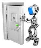 Live Screen Robot, Opening Door royalty free illustration