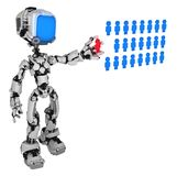 Live Screen Robot, People Database stock photography