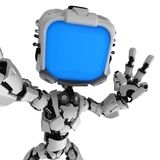 Live Screen Robot, Selfie vector illustration