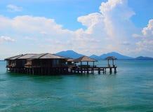 Live among the sea. Resort stand among the sea Stock Image