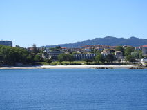 Live by the sea. To live between the sea and the mountains in Vigo Stock Photography
