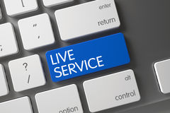 Live Service Button 3d Royaltyfria Bilder
