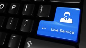 359 Live Service Moving Motion On-de Knoop van het Computertoetsenbord stock footage