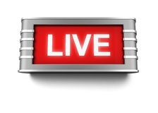 Live sign Stock Image
