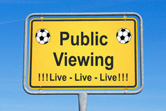 Live soccer sign Royalty Free Stock Image