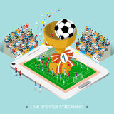 Live soccer streaming concept Stock Photography