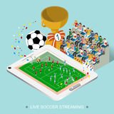 Live soccer streaming concept Royalty Free Stock Photo