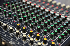 Live sound mixer Stock Images