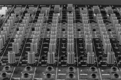 Live Sound Mixers and music in studio Stock Photos