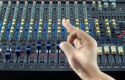 Live Sound Mixers  music studio Hand symbol Stock Photo