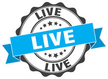 Live stamp. sign. seal Royalty Free Stock Image