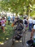 Live Statues i Espinho, Portugal arkivfoton