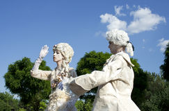 Live statues Royalty Free Stock Photo