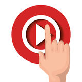 Live straming concept isolated icon Royalty Free Stock Photos