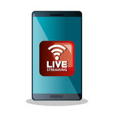 Live straming concept isolated icon Stock Images