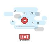 Live stream concept Stock Photo