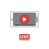 Live stream concept Royalty Free Stock Photo