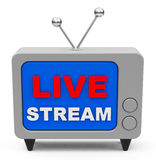 The live stream Royalty Free Stock Photos