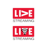 Live stream logo. Stock vector illustration for online broadcast, tv program Royalty Free Stock Image