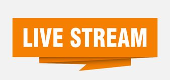 Live stream. Sign.  paper origami speech bubble.  tag.  banner vector illustration