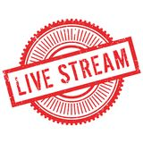 Live stream stamp. Grunge design with dust scratches. Effects can be easily removed for a clean, crisp look. Color is easily changed Stock Photography