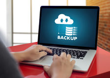 LIVE STREAMING Backup Download copies of data Computing Digital Stock Image