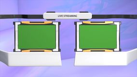 Live streaming/broadband graphic animation. green screen included. stock video footage